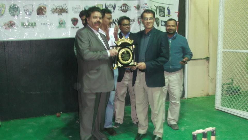 RCA Patron presented shield to Mr. Iqbal Sikander